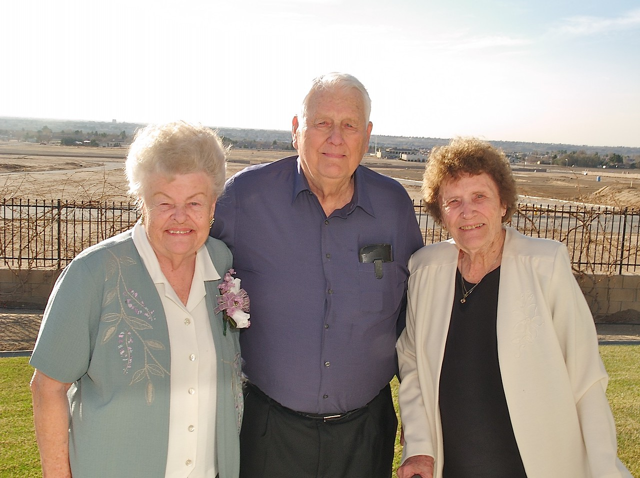 Grandma Ellen and Grandpa Howard with his sister Marge.