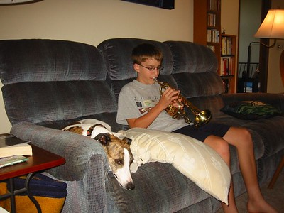 Practicing cornet