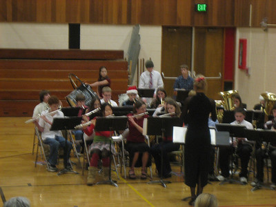 December 2005. Aaron (in Santa hat) on trumpet