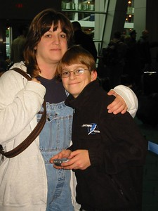 Aaron and his mom. January 3, 2004