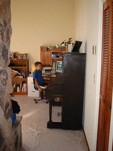 Aaron in new home, August 2004