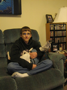 Aaron and his whippet Anna