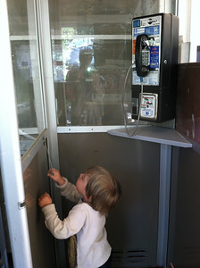 Exploring a phone booth