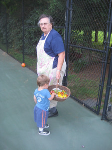 """Alec liked to eat the tomatoes, especially the orange ones. """"Orange!""""  They were the sweetest, too."""