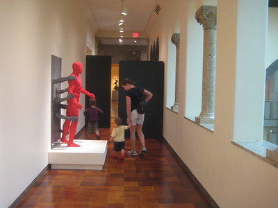 """The LEGO sculptures were displayed in the Museum of Fine Art. """"The Art of the Brick"""" This work is called """"Constrained""""   See http://www.springfieldmuseums.org/"""