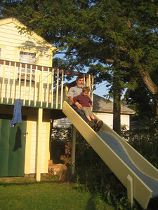 Ken introduced Mateo to the slide