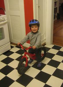 Teo on his bike!