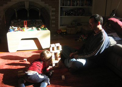 Building blocks with Daddy