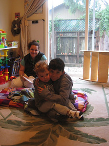 Mateo at daycare with Norma.