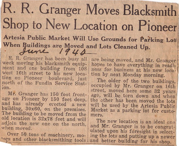 Shop moves in 1940.