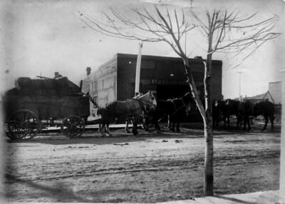 Granger Blacksmithing Shop in Salida, Colorado in late 1800's.