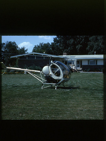 1966 tracking pigeons with helicopter