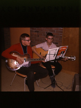 1964 Geoff and Mike Loomis learning guitar