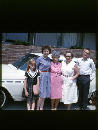 1963 with Blanche Hock and her sister Florence