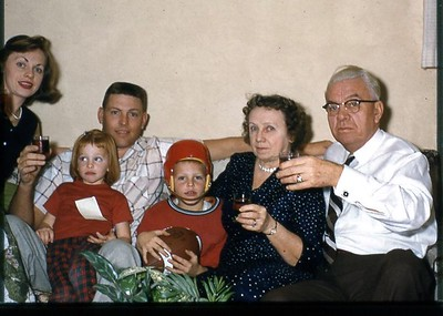 1956 with Grandma & Grandpa Hock