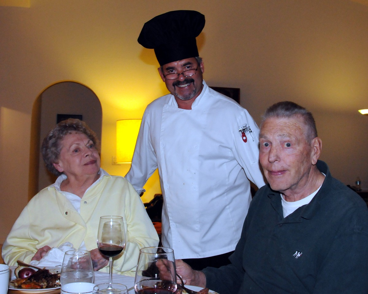 Pat & Lou with Chef Christian Vivet from Blue Windows Catering
