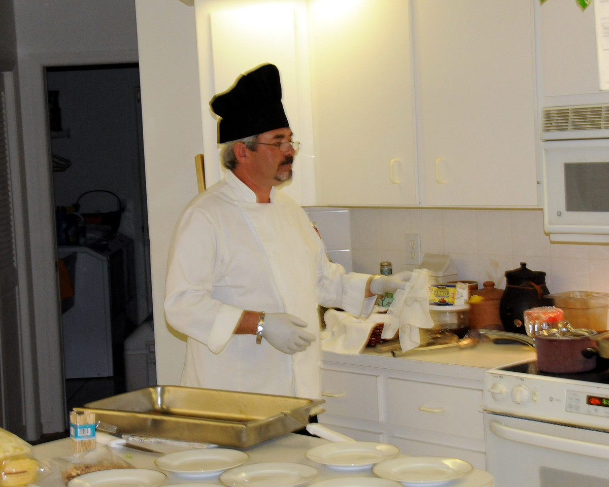 Chef Christian Vivet from Blue Windows Catering