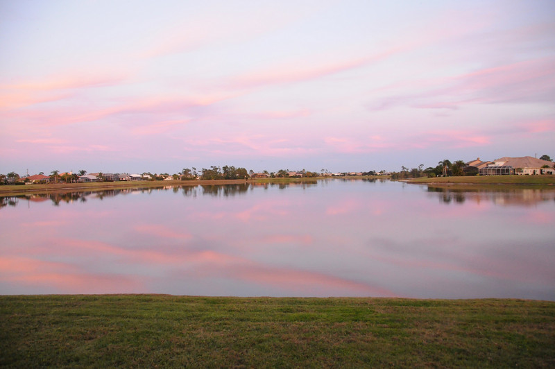 Sunset on Blue Lake