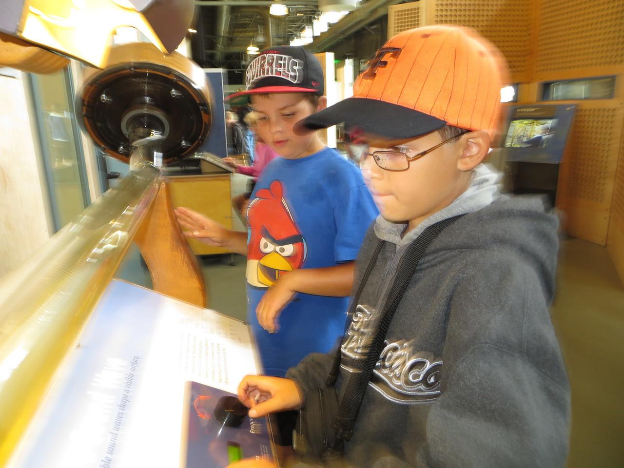 Scotty and Austin at the Exploratorium