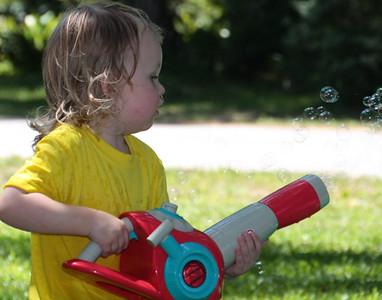 having fun with the bubble machine