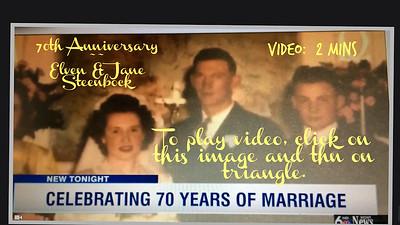 Elven & Jane Steenbock~~70th Anniversary