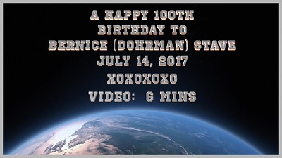 Video:  6 mins. -- Birthday video from Ray & Penny Schuette -- click on above image and then on triangle and video will play,