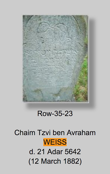 Herman Weiss Headstone