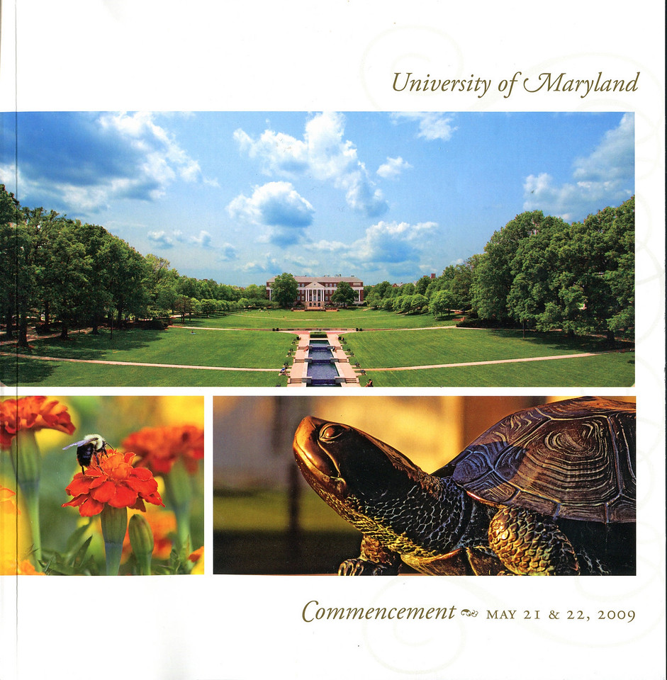 The main Commencement Ceremony program cover