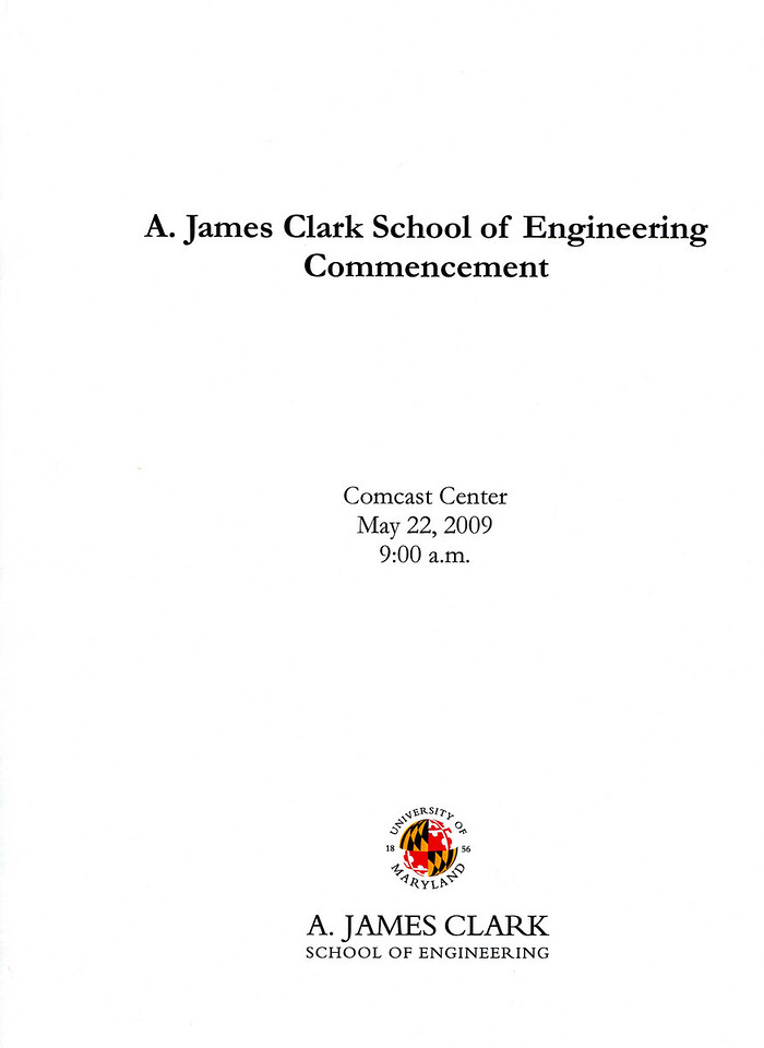 The Egnineering School commencement program