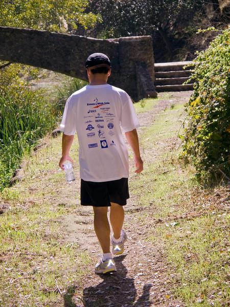 Greg strolls over to the Big Bear Bridge