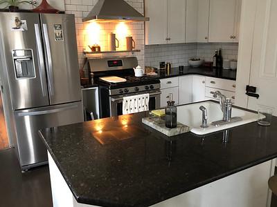 The very modern kitchen.