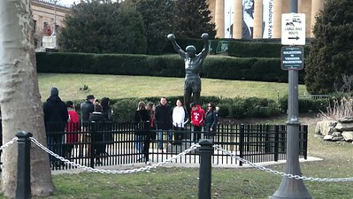 """The """"Rocky"""" statue in front of the Philadelphia Museum of Art."""