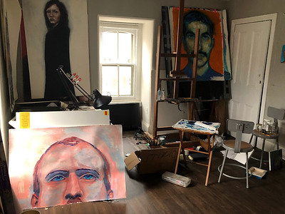 The painting room.