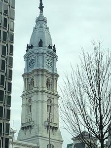 Philadelphia City Hall.  A statue of William Penn is on top.