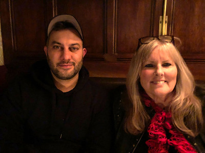 Greg and Mom at our first dinner on Saturday night at the Dandelion Restaurant.