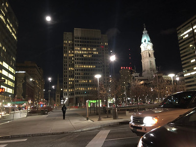 Looking back at City Hall across the plaza.