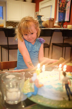 Greta's 4th birthday, March 2014
