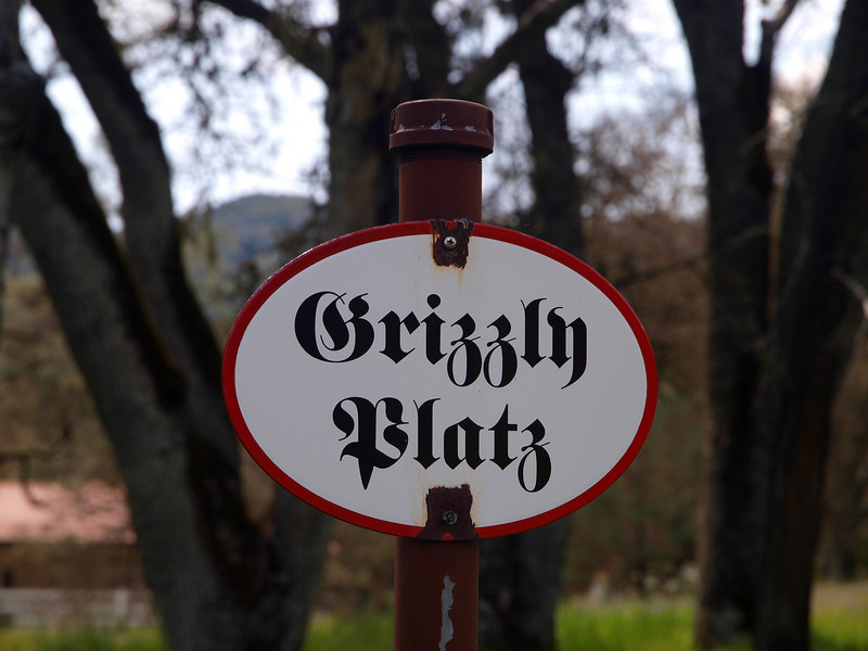 Sign at Grizzly Flat (Platz)
