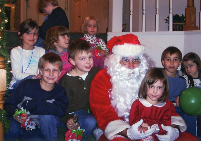 Group shot with Santa
