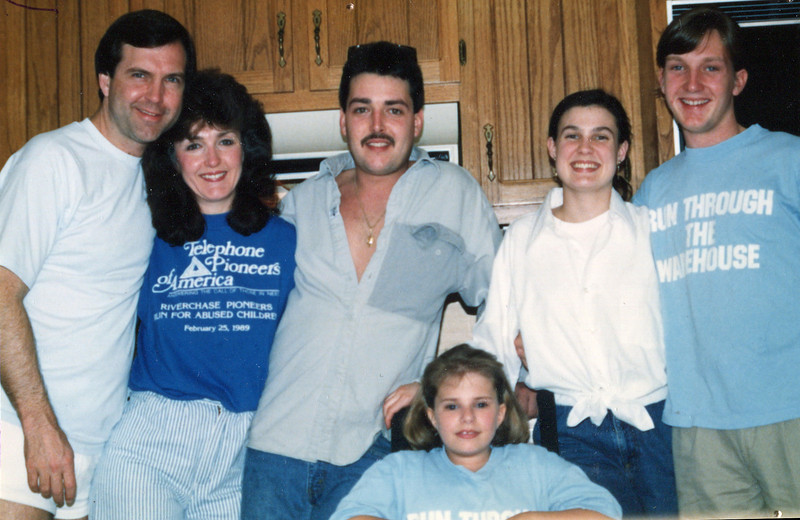 From left: Terry, Janie, Johnny, Jill, Ann and Nelson
