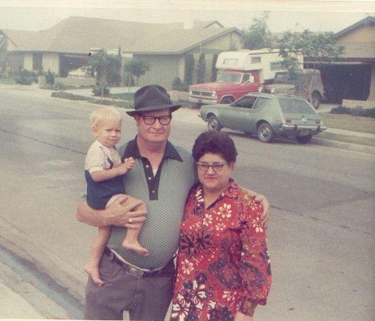 Michael David, David Forrest and Martha Alice Driggs.  Fall 1972.