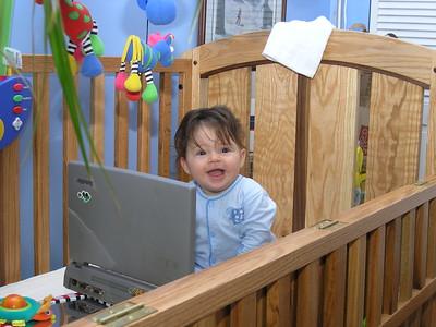 cutie in the crib