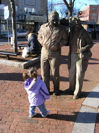 Statues in Davis Square.