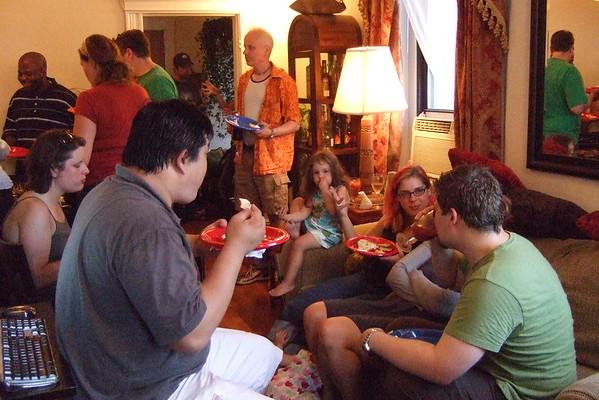Garlic Party at Todd's.
