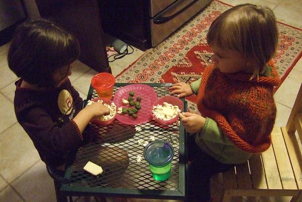 Little-table dinner.