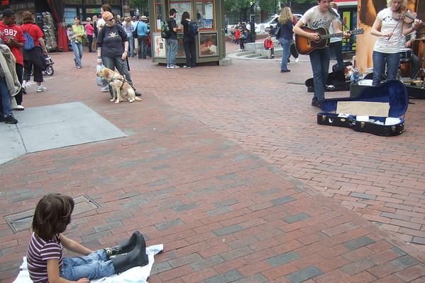 Music in Harvard Square.