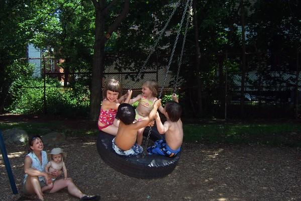 At the Cedar Street playground.