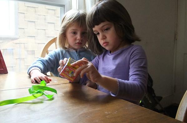 Guen opens a school-start present from Christina.