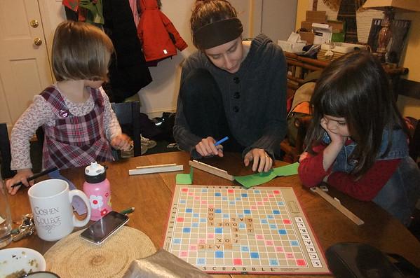 Scrabble game with Karen L.