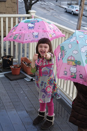 Silly in the rain.